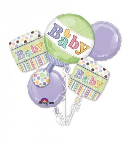 Baby Rattle Balloon Package