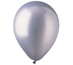 Metallic Silver Colour Helium Latex Balloon