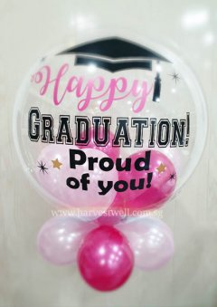 Happy Graduation Girl Customize Bubble Balloon Size: 24""