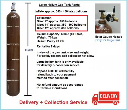 Large Helium Gas Tank (40 Litres ) Delivery & Collection
