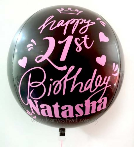 Customize Black Pink ORBZ Balloon