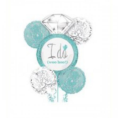 I Do Engagement Diamond Ring (Tiffany Blue) Balloon Package