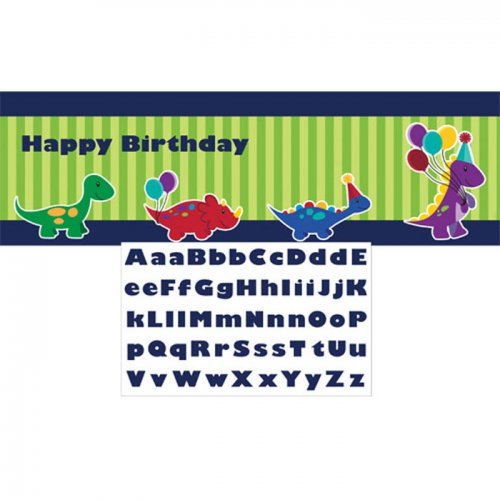 Little Dino Party Personalized Giant Party Banner