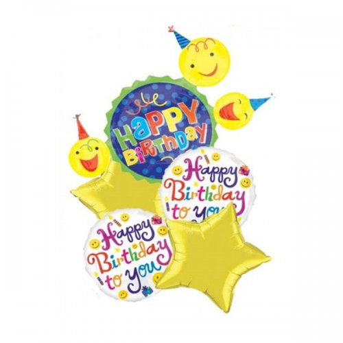 Happy Face Birthday Balloon Package