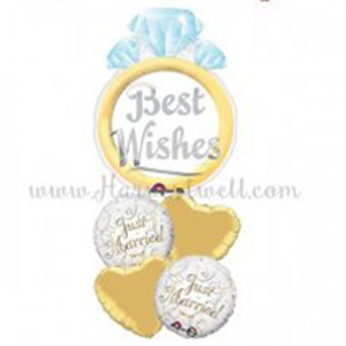 Best Wishes Just Married JR Balloon Package