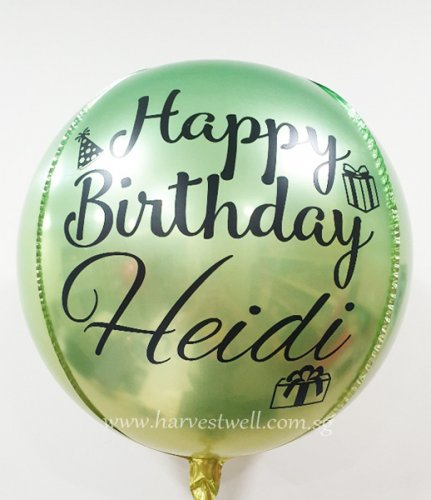 Green Yellow Customize ORBZ Balloon