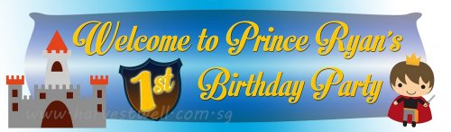 Prince Birthday Customized Banner