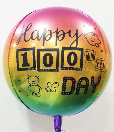 100 Days Customize ORBZ Balloon