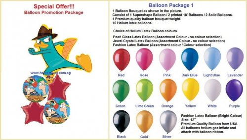 Phineas and Ferb Balloon Package