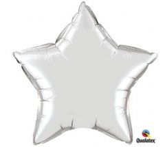 Jumbo Silver Star Shape Mylar Balloon