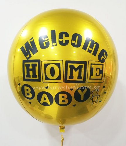 Customize Welcome Home Baby ORBZ Balloon