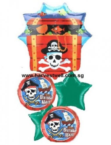 Pirate Treasure Birthday Mate Balloon Package