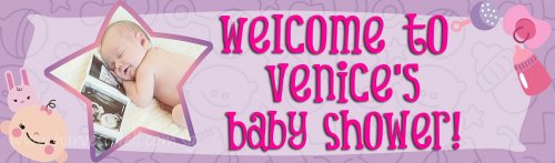 Baby Girl Shower (Photo) Customized Banner