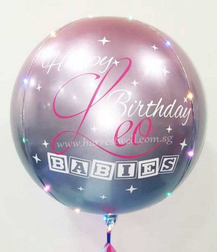 Customised Horoscope Bday Orbz Balloon
