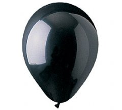 Black Colour Helium Latex Balloon