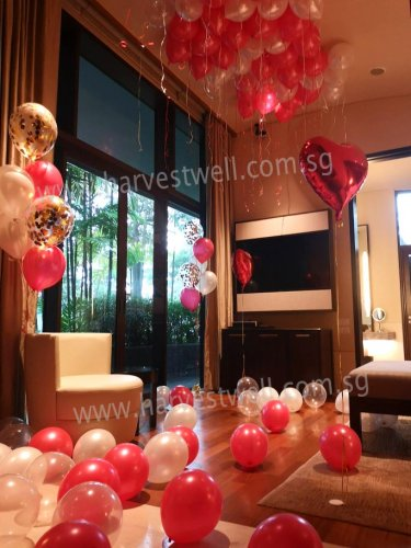 Infinite Love Bedroom Balloon Decoration Package
