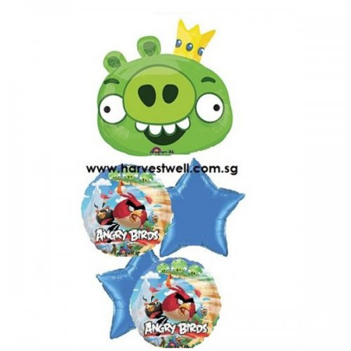 Angry Bird Party! Green Pig Balloon Package