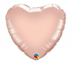 Rose Gold Heart Shape Mylar Balloon