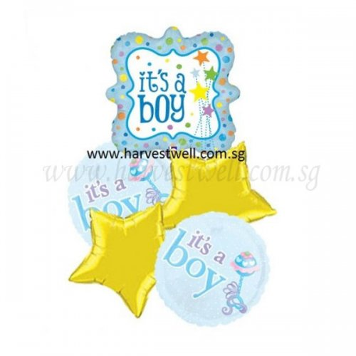 Its a Boy Stars Balloon Package