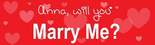 Red Heart Proposal Customized Banner
