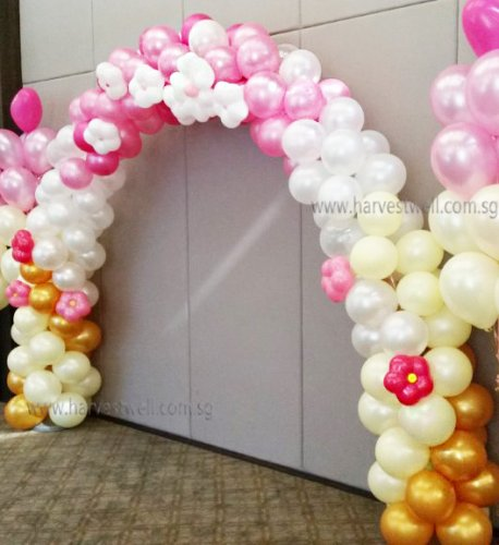 Cherry Blossom Balloon Arch