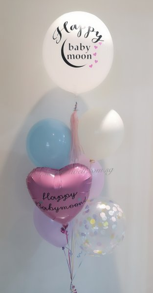 Personalised Pastel Theme Balloon Bouquet