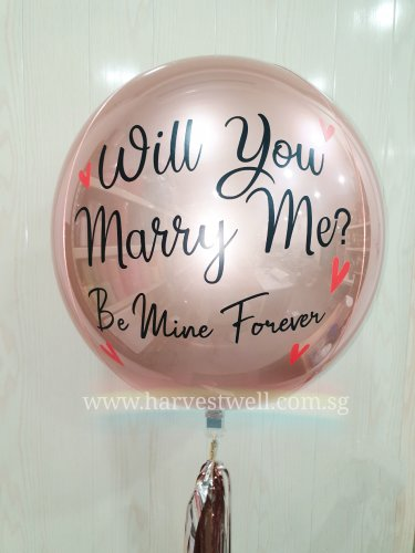Marry Me Red Hearts ORBZ Balloon