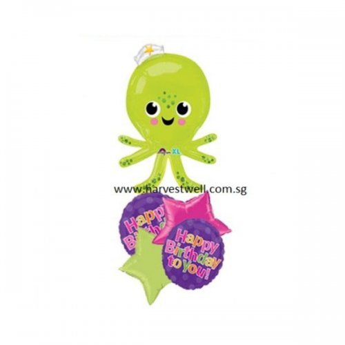 Hbd Silly Octopus Balloon Package
