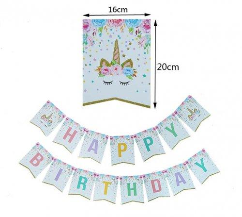 Unicorn Birthday Jointed Banner