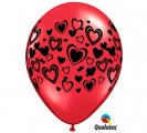 Double Hearts Wrap Helium Latex Balloon