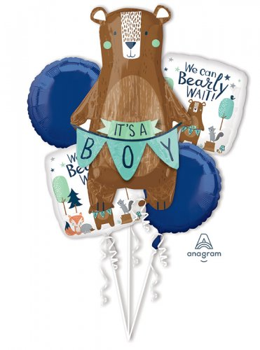 We Can Bearly Wait Balloon Bouquet
