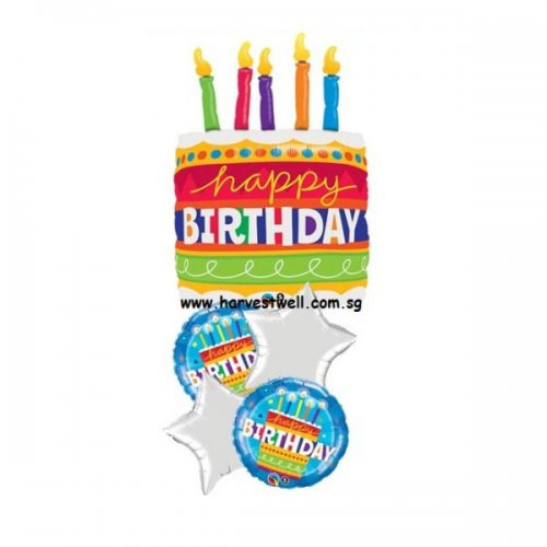 Birthday Cake (Blue) Balloon Promotion Package