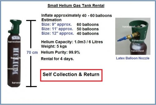 Small Helium Gas Tank (6 Litres) Store Pickup