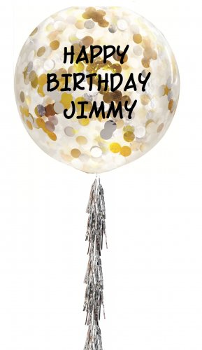 Personalized Jumbo Helium Latex Balloon