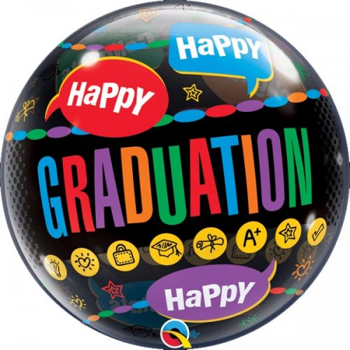 Happy Happy Happy Grad Bubble Balloon