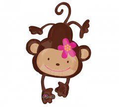 Monkey Love Super Shape Mylar Balloon