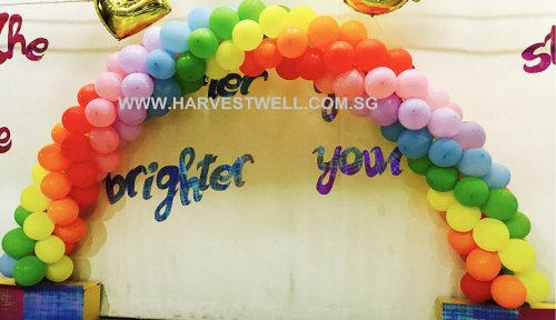 Rainbow (Spiral) Balloon Arch