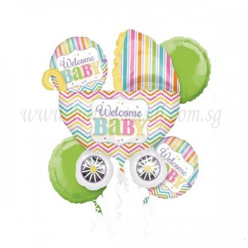 Welcome Baby Pram Balloon Package