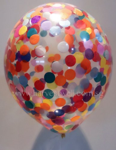 Confetti Helium Latex Balloon (Rainbow)