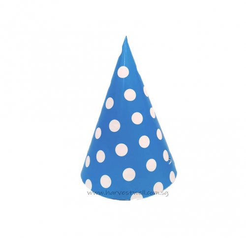 Blue with White Dots Party Hat