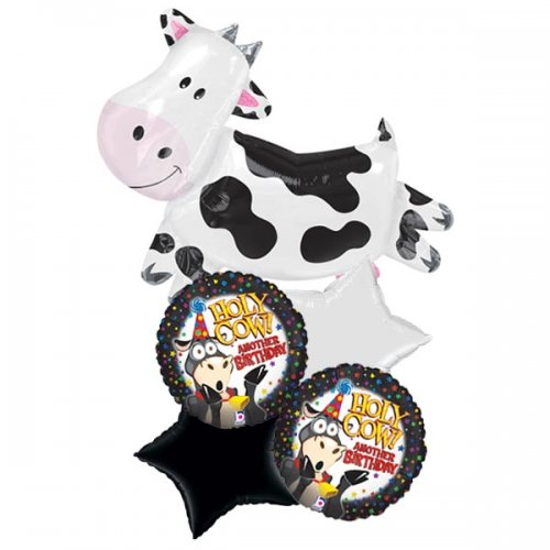 Holy Cow Birthday Balloon Package