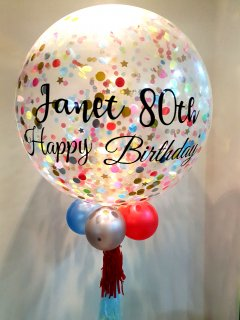 Personalized Jumbo Classic Bday Helium Latex Balloon