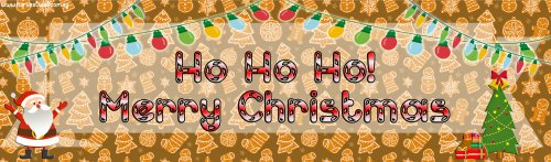 Festive Christmas Customized Banner