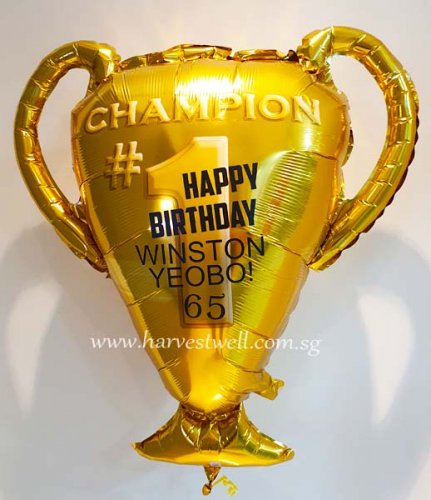 Champion Trophy Customized Balloon Size: 23""