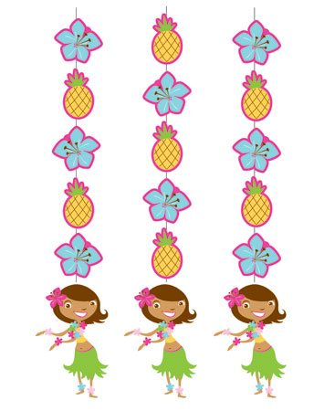 Hula Girl Hanging Cutouts