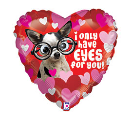 I only have EYES for You! Google Eyes Mylar Balloon