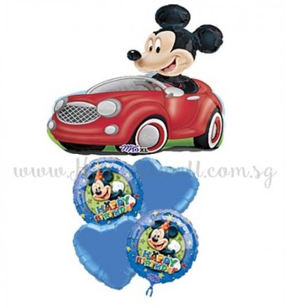 Mickey Driving Birthday Party Ballooon Package