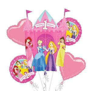 Happy 1st Birthday Disney Princess Balloon Promotion Package