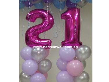21st Pink Birthday Balloon Value Package