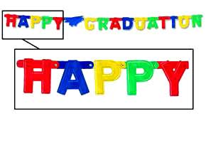 Happy Graduation Small Jointed Banner